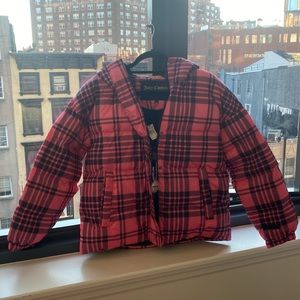 Juicy Couture Plaid Puffer Jacket